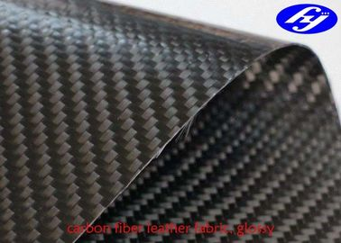 TPU Coated Twill 3K Carbon Fiber Leather Fabric For Wallets / Bags