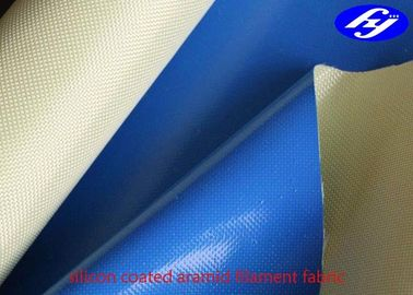China Plain Para Aramid Fabric One Side Coated With 100GSM Liquid Silicone supplier