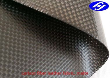 3K Plain Carbon Fiber Leather Fabric Plain Black Matte Woven Aramid Fabric