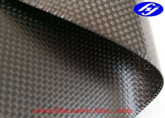 China 3K Plain Carbon Fiber Leather Fabric Plain Black Matte Woven Aramid Fabric supplier