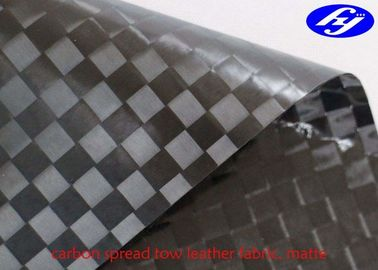Matte Polyurethane Leather Fabric TPU Coated Spread Tow Carbon Fiber For Car Decoration