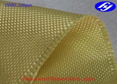 China Acid / Alkali Resistance Kevlar Aramid Fiber Plain Fabric 1500D 220GSM supplier