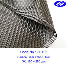 Thick 0.3mm Car Spare Parts Twill Carbon Fiber Fabric