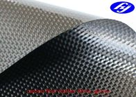 China Plain Carbon Artificial Leather Fabric / Corrosion Resistance Black Carbon Fiber Fabric factory