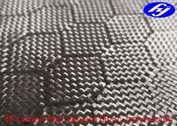 China Honeycomb / Hexagon Pattern 3K Carbon Black Fiber Jacquard Fabric company