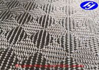 China Mosaic Pattern 3K Jacquard Carbon Fiber Fabric With Abrasion Resistance factory