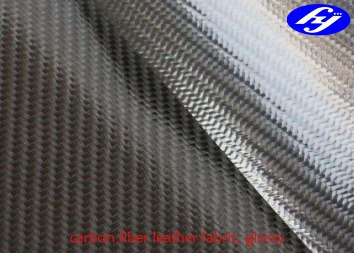 TPU Coated Twill 3K Carbon Fiber Leather Fabric For Wallets