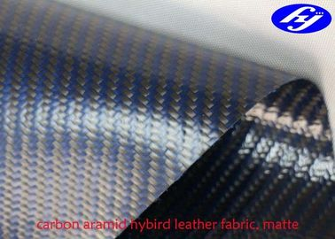 Blue Carbon Kevlar Hybrid Twill Matte Polyurethane Upholstery Fabric For Furniture