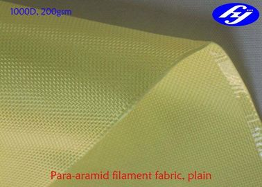 Bullet Proof Aramid Carbon Fiber 1000D 200GSM With High Temperature Resistance