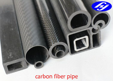 Various Shape Carbon Composite Material , Special Section Pultrusion Carbon Fiber Tube