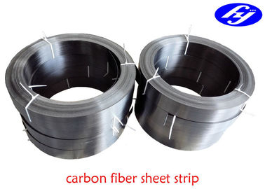 Black Carbon Fiber Sheet Strip Bridge Structural Reinforcement Lath For Building